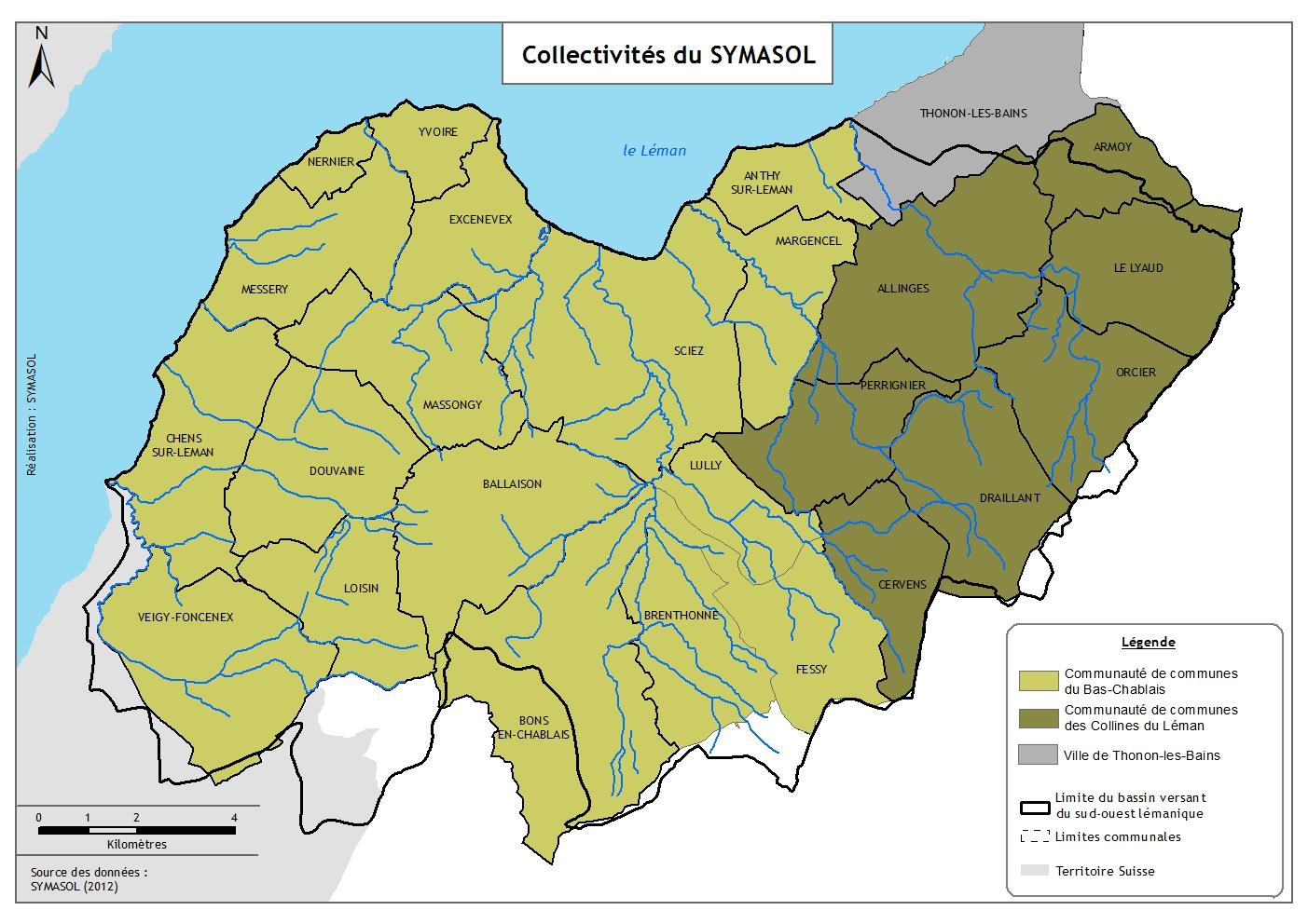 Carte administrative du territoire