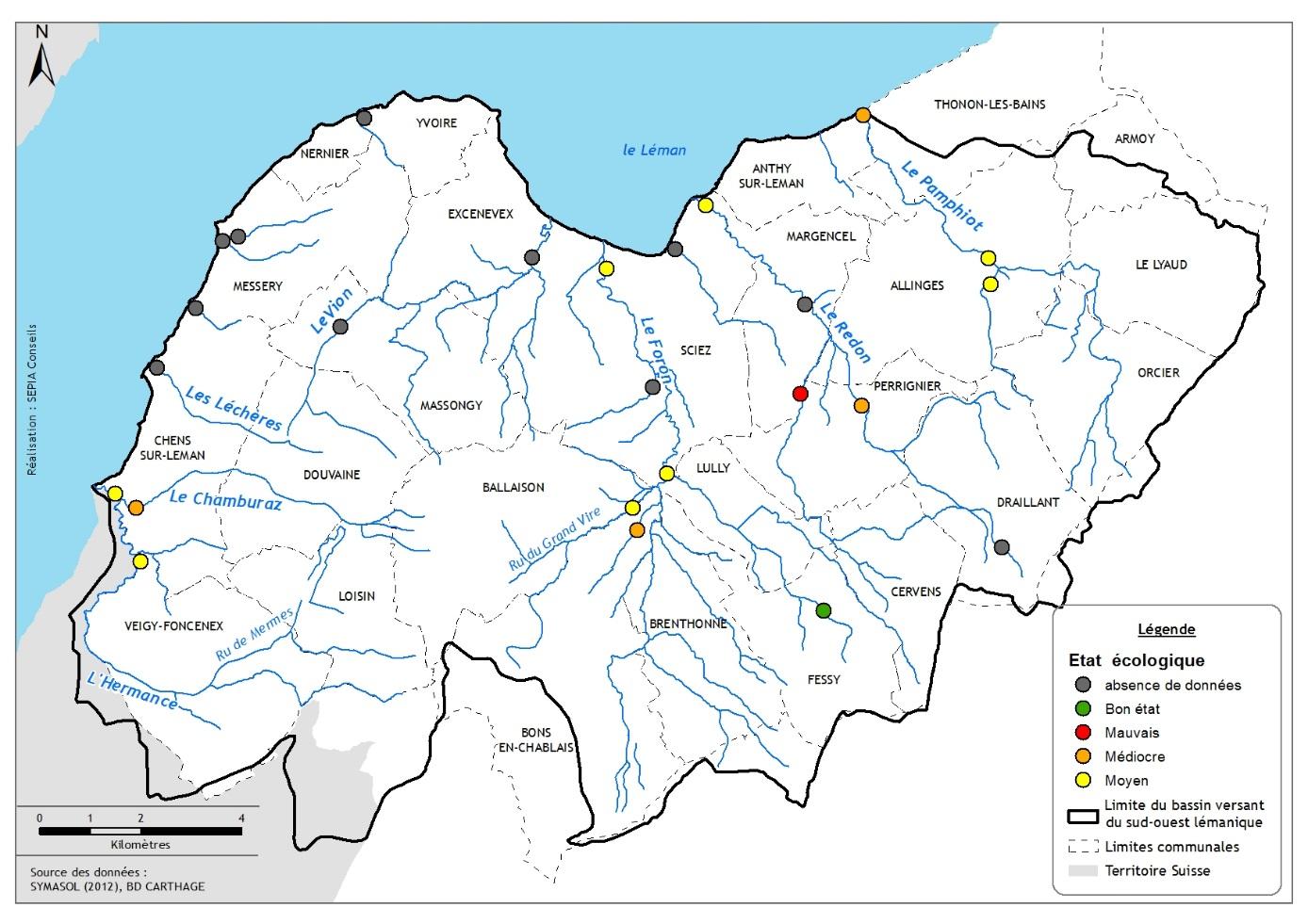 Etat écologique des rivières