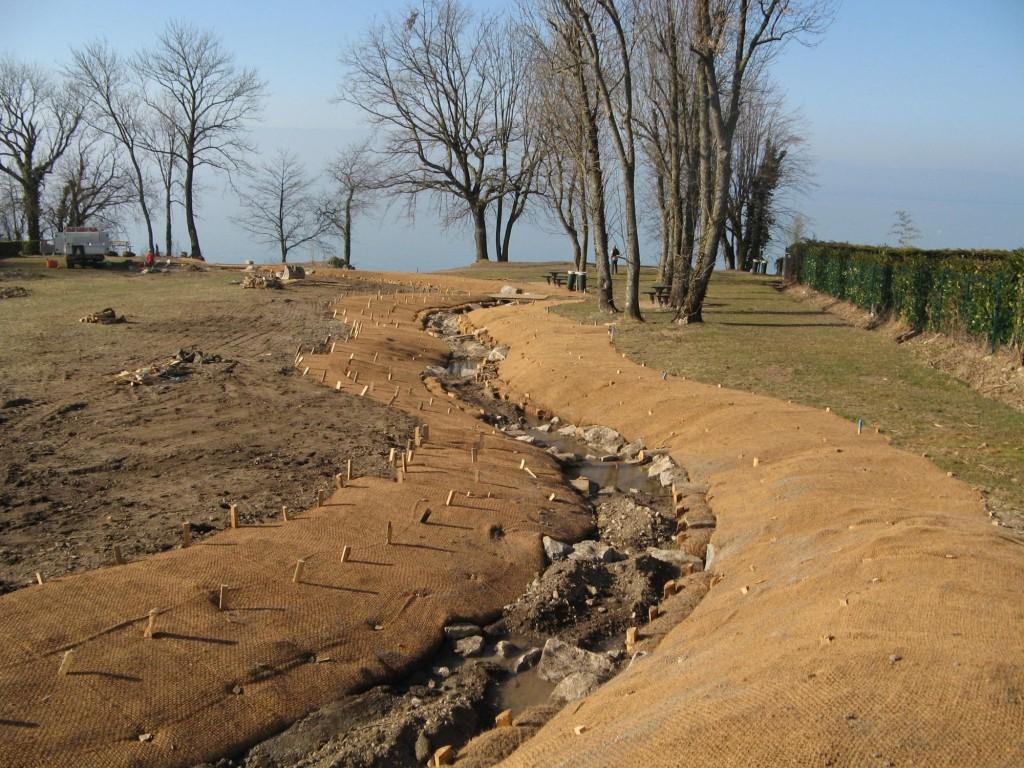 Pendant travaux – aménagement lit de la rivière et des berges