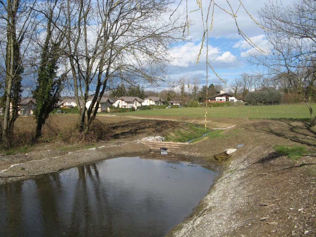 bassin de rétention – fin de travaux